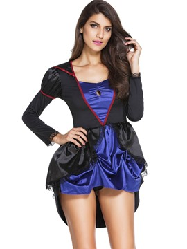Ericdress Patchwork Chest Hollow Evil Queen Cosplay Halloween Costume