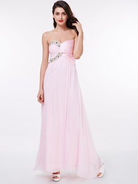Ericdress Pretty Strapless Beading Long Prom Dress