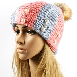 Ericdress Pearl Embellished Warm Knitted Hat