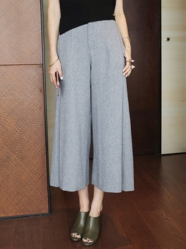Ericdress Simple Solid Color Culottes