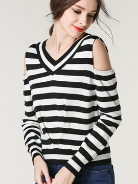 Ericdress Cold Shoulder Knitwear