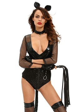 Ericdress Fish Net Deep V-Neck Sexy Animal Costume