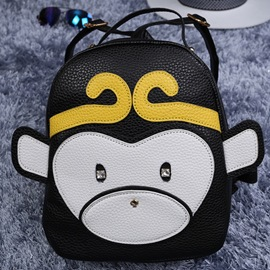 Ericdress Cute Color Block Monkey Backpack