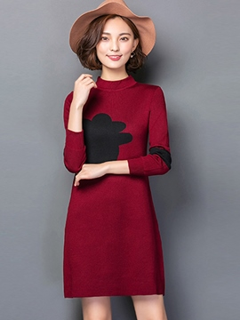 Ericdress Color Block Mid-Length Pullover Knitwear