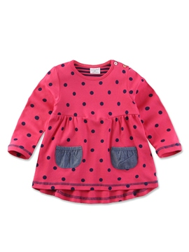 Ericdress Polka Dots Baby Girls Dress