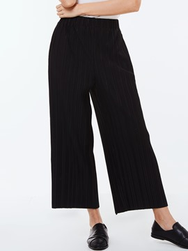Ericdress Pleated Wide Legs Pants