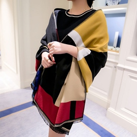 Ericdress Multi Color Stripe Shawl