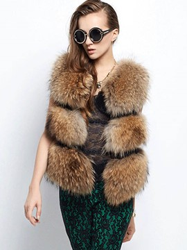 Ericdress Loose Faux Fur Jacket