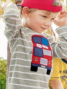 Ericdress Stirpe Bus Print Baby Boys T-Shirt