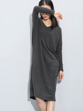 Ericdress Solid Color Long T-Shirt