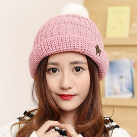 Ericdress Sweet Pony Embellished Knitted Hat
