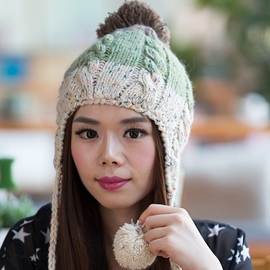 Ericdress Multicolor Twist Crochet Protective Ear Hat