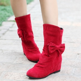 Ericdress Lovely Bowknot Elevator Heel Ankle Boots