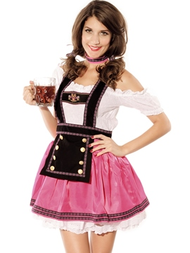 Ericdress Patchwork Lovely Beer Cosplay Costume