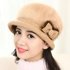 Ericdress Bownot Embellished Pure Color Women's Hat