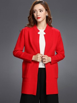 Ericdress Loose Straight Casual Coat