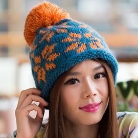 Ericdress Snowflake Crochet Winter Knitted Hat
