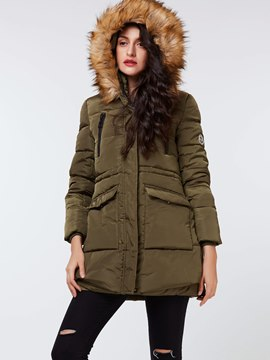 Ericdress Army Green Straight Casual Coat