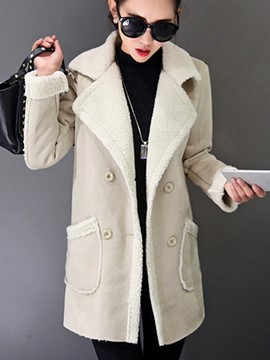 Ericdress Loose Fleece Coat