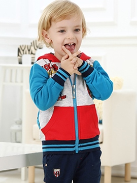 Ericdress Cartoon Print Boys Hoodie