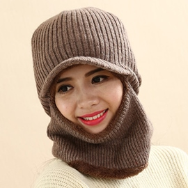 Ericdress Warm Protective Ears Hat with Mask