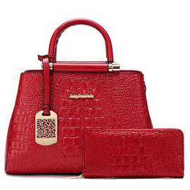 Ericdress Stylish Croco-Embossed Handbags(2 Bags)