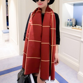 Ericdress Double Sided Warm Plaid Scarf