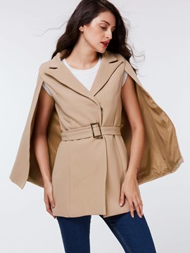 Ericdress Solid Color Batwing Polo Cape