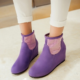 Ericdress Bright Patchwork Ankle Boots