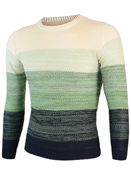 Ericdress Gradient Vogue Pullover Men's Sweater
