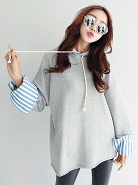Ericdress Casual Lace-Up Loose Cool Hoodie