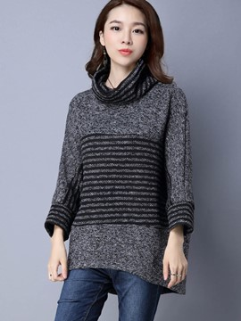 Ericdress Heap Collar Casual Knitwear