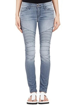 Ericdress Unique Pleated Jeans