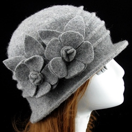 Ericdress Flowers Embellished Women's Fedora Hat