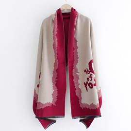 Ericdress Trendy Letter Printed Warm Scarf/Shawl