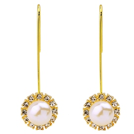 Ericdress Long White Pearl Earrings