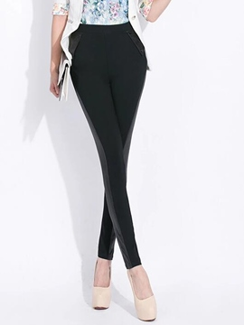 Ericdress Cotton High-Waist Pocket Leggings Pants