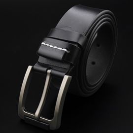 Ericdress Casual Alloy Pin Buckle Leather Men's Belt