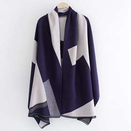 Ericdress Fashion Geometric Color Block Scarf