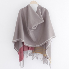 Ericdress Winter All-Matched Stripe Tassels Scarf