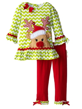 Ericdress Two-piece Deer Skirt Legging Girls Outfit