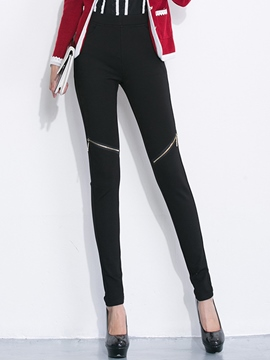 Ericdress Fashion Zipper Decoration Leggings Pants