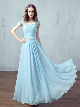 Ericdress Dramatic A-Line Scoop Appliques Pearls Sashes Evening Dress