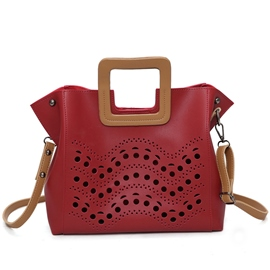 Ericdress Hollow Polka Dot Handbag