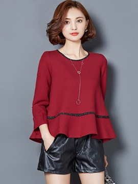 Ericdress Plain Falabla Loose T-Shirt