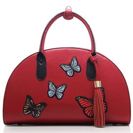 Ericdress Vogue Butterfly Embroidery Tassel Handbag