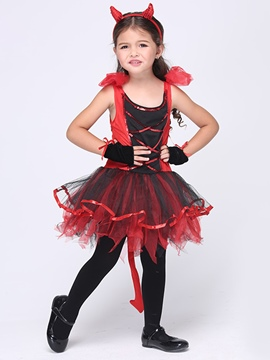 Ericdress Halloween Catwoman Grils Costume TUTU Dress