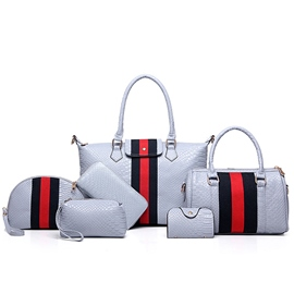 Lastest Stripe Serpentine Embossed Handbags(6 Bags)