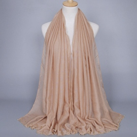 Ericdress Muslim Gold Beads Decorated Scarf