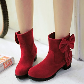 Ericdress Lovely Bowtie&tassels Ankle Boots